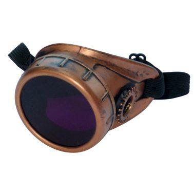 Copper Toned Monocle : Purple Lenses