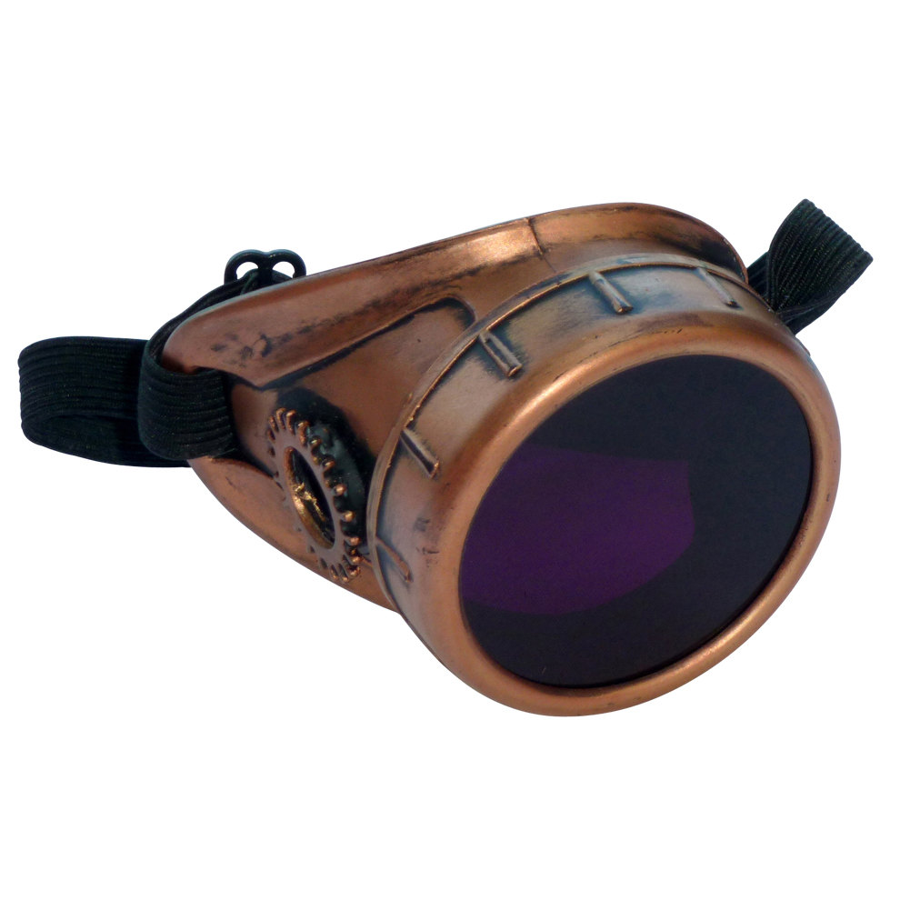 Copper Toned Monocle : Purple Lenses