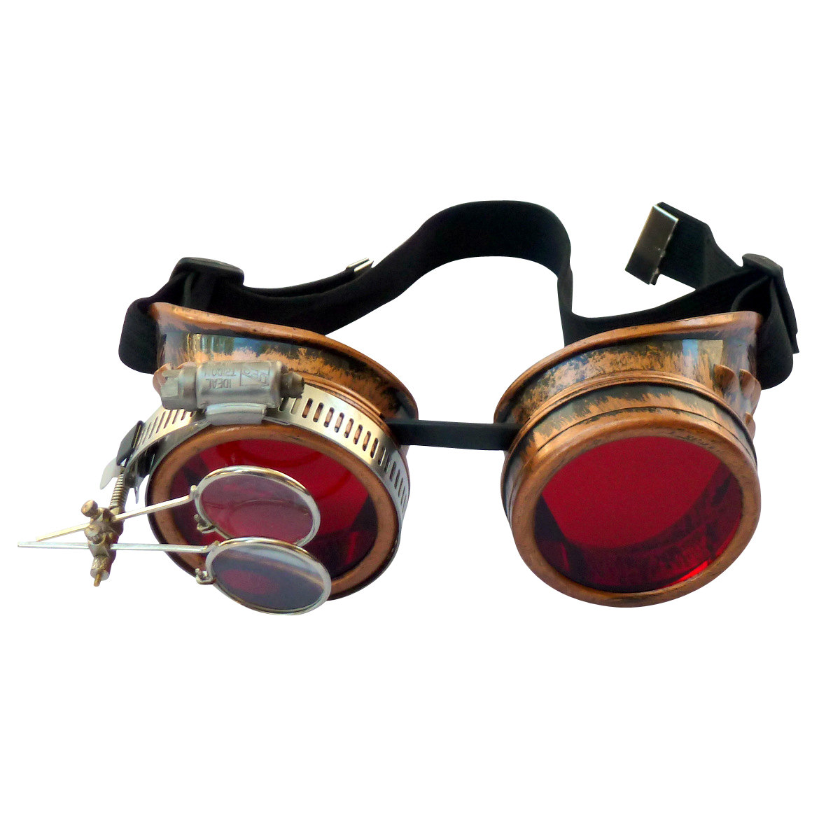 Copper Toned Goggles: Red Lenes w/ Eye loupe