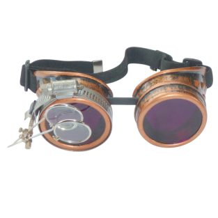 Bronze Goggles: Purple Lenses w/ Eye Loupe
