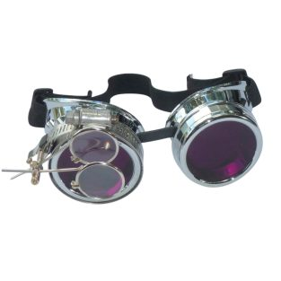 Chrome Goggles: Purple Lenses w/ Eye Loupe