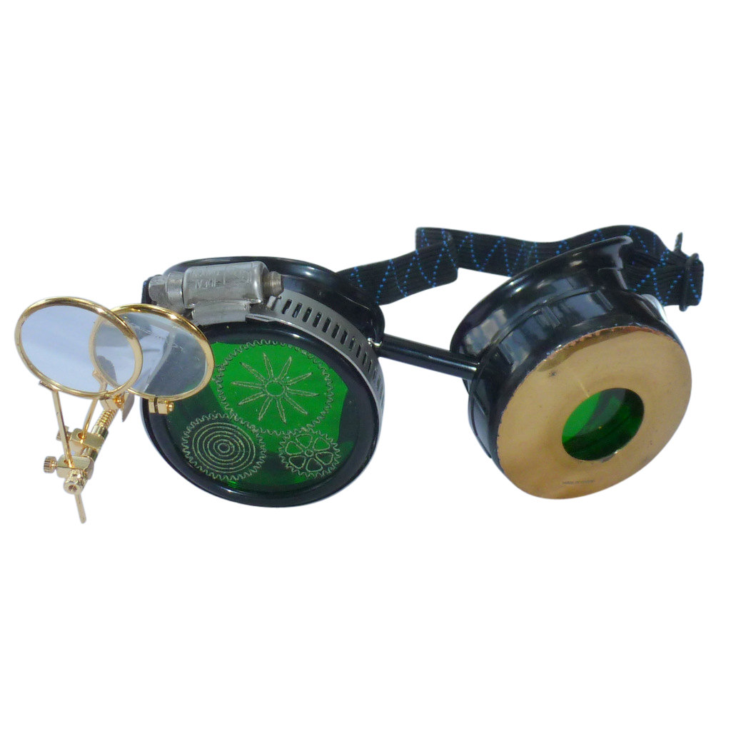 Basic Goggles w/ Etched Cogs & Eye Loupe