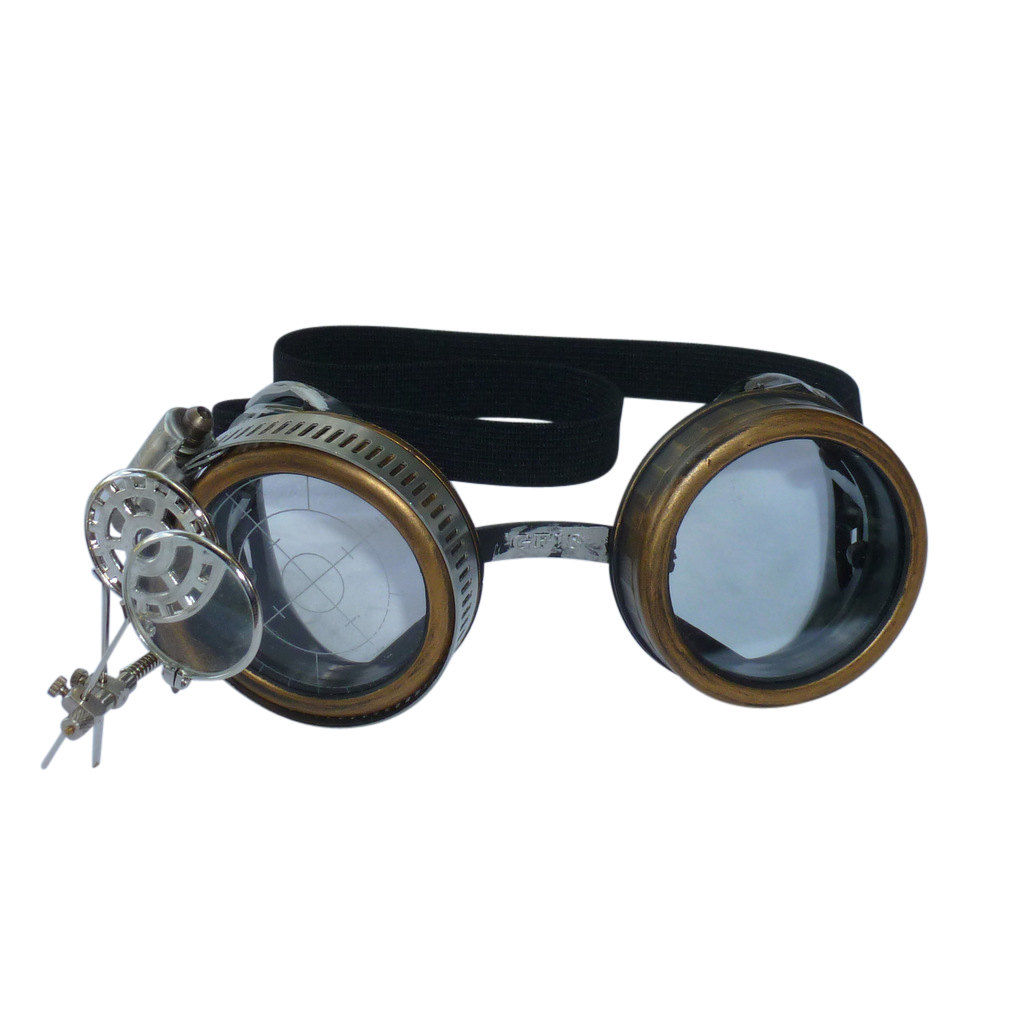 Gold Goggles: Dark Lenses w/ & Eye Loupe