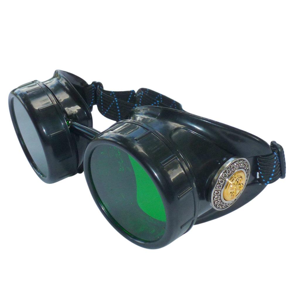Black Goggles: Green Lenses w/ Golden Ornaments