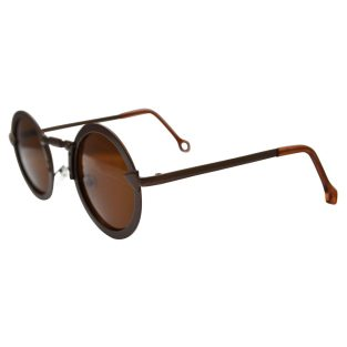 Industrial Steampunk Sunglasses: Brown Frames & Lenses