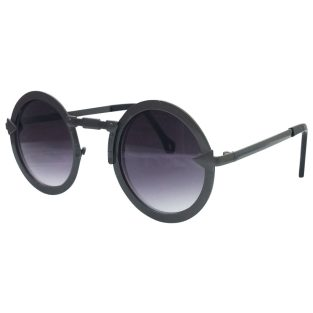 Industrial Steampunk Sunglasses: Gunmetal Gray & Purple Gradient Lenses