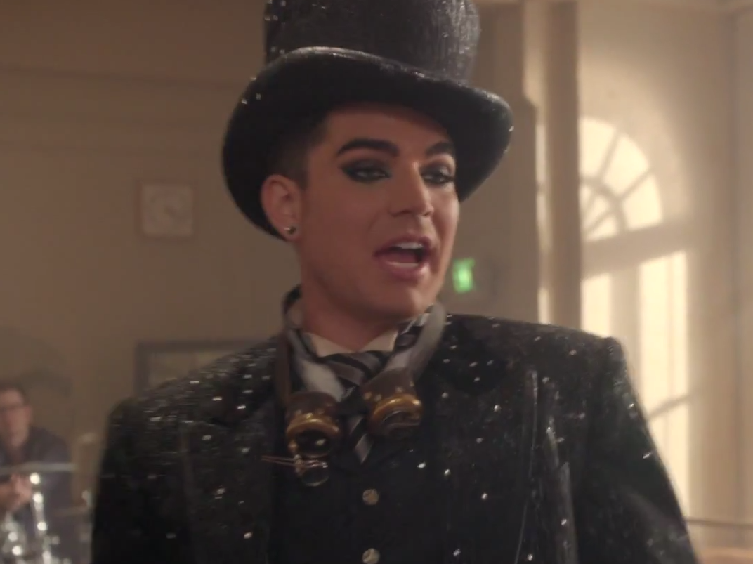 Adam Lambert Wearing Watchmaker's Dream Steampunk Goggles