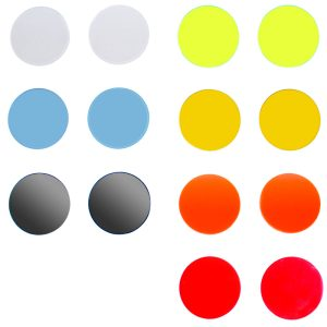 all 7 colors - replacement goggle lenses - 50mm