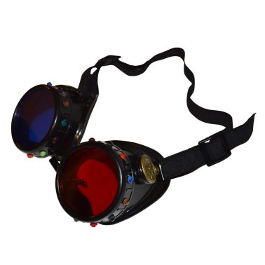 Red Blue 3D Masquerade Goggles With Gemstones