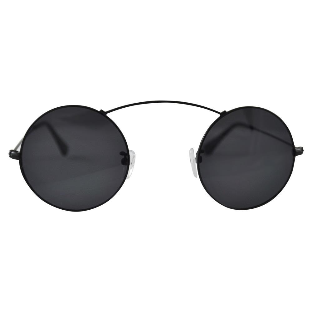 Circle Sunglasses  minimal circle sunglasses bridgeless silver blue