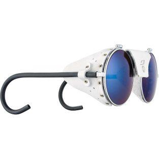Julbo Mythic - Blue Lenses w/ Silver Frames & White Leather Side Shields