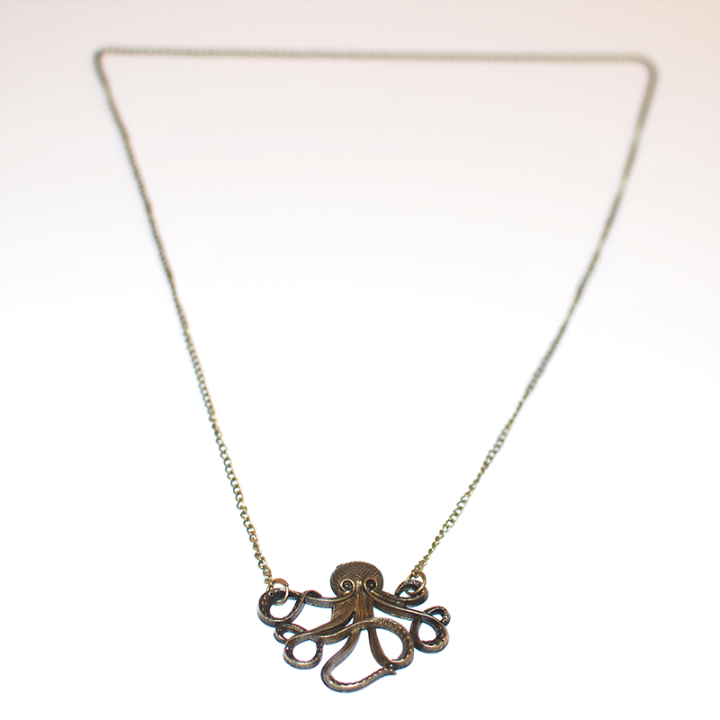 Bronze Tone Cthulhu Necklace