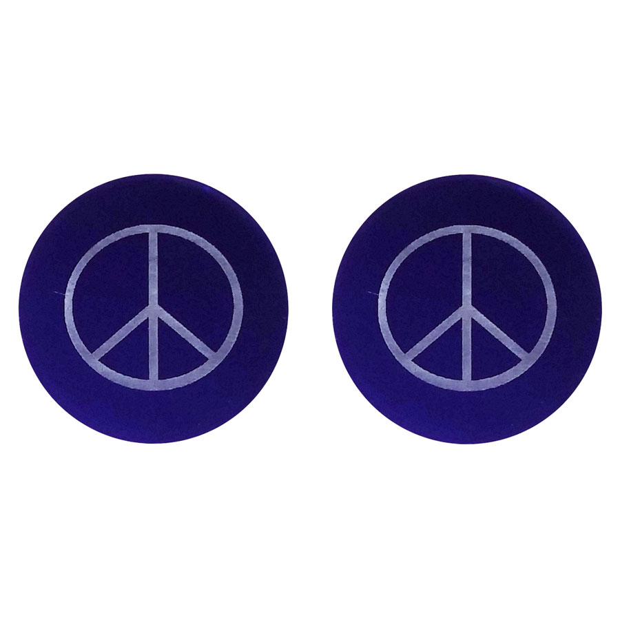 Peace lenses in blue