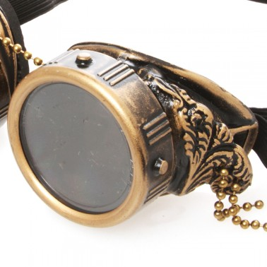 Rebel Steampunk Goggles With Wings - Details 2