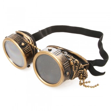 Rebel Steampunk Goggles With Wings