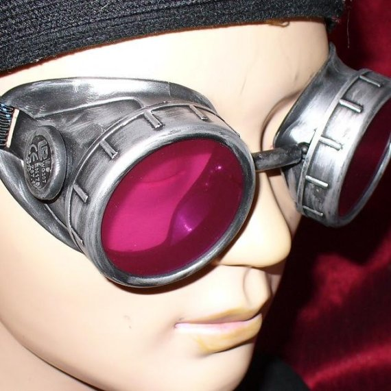Goggles With Red Lenses - Side View 1