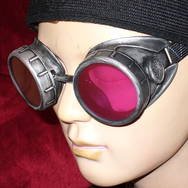 Goggles With Red Lenses - Side View 2