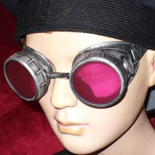 Victorian Goggles With Red Lenses