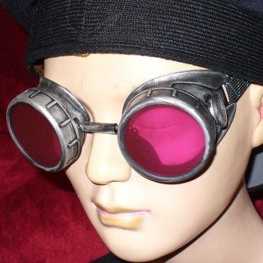 Goggles With Red Lenses - Side View 3