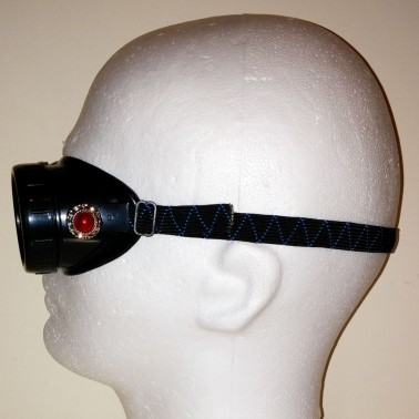 Red steampunk goggles - side