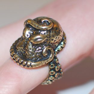 Octopus Ring - Cthulhu - Close Up