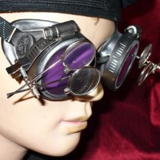Silver Goggles with Eye Loupes