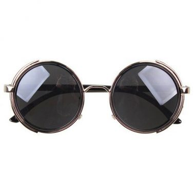 Silver Steampunk Glasses - Gray Smoked Lenses - John Lennon Influenced