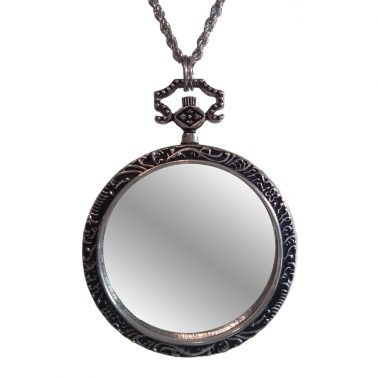 Silver-toned monocle necklace