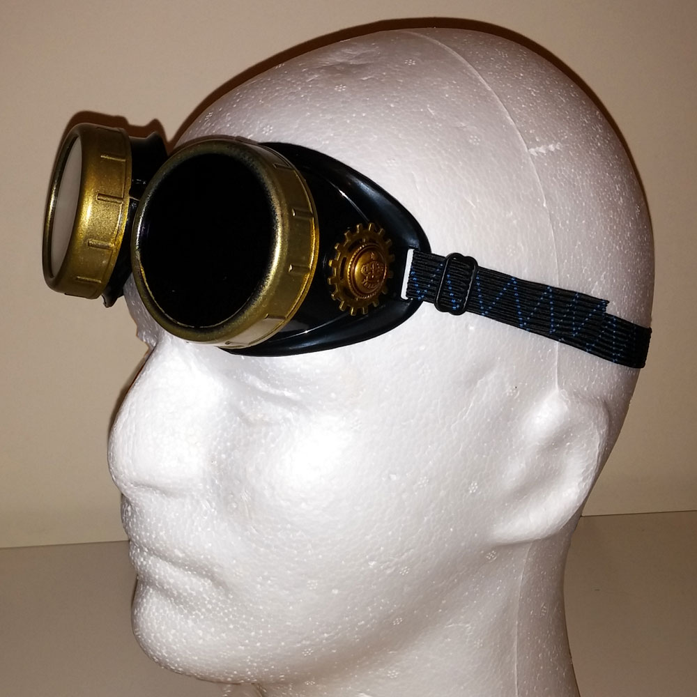 King of Steam Crowned Brass Toned Goggles