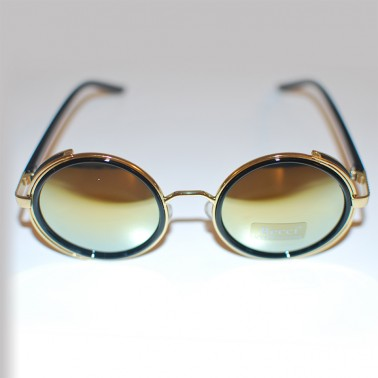 Steampunk Glasses - Gold Mirror Lenses and Gold Tone Frames