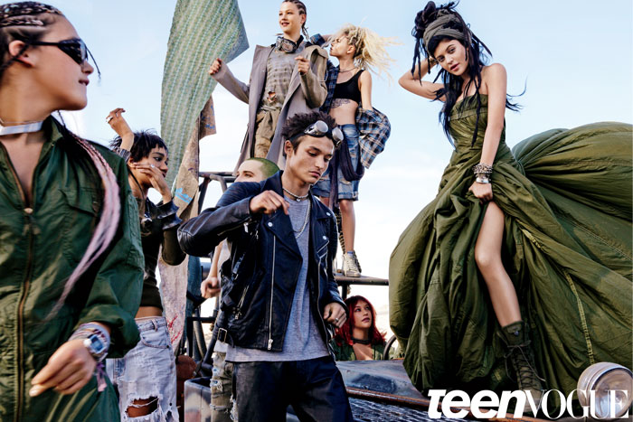 Teen Vogue Desert Steampunk Photoshoot with Kylie Jenner and Friends, May 2015