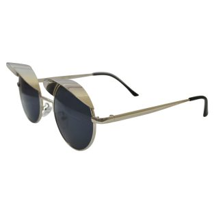 Silver Sunglasses With Top Shades & Dark Lenses
