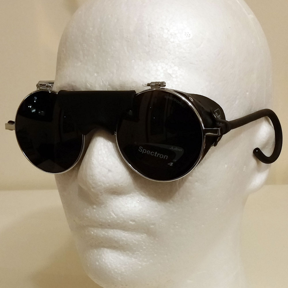 Aviator Sunglasses Leather Side  biker sunglasses for men who are beyond the law