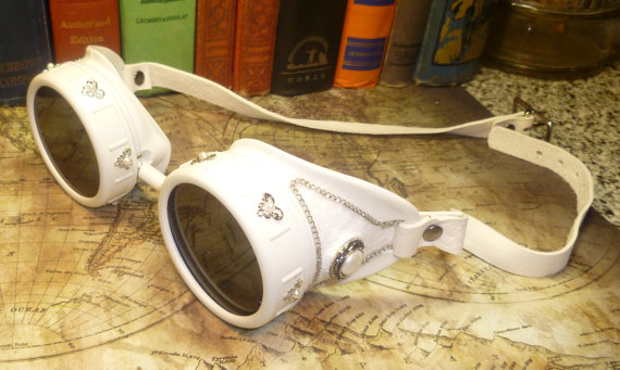 Steampunk Wedding Goggles Side View